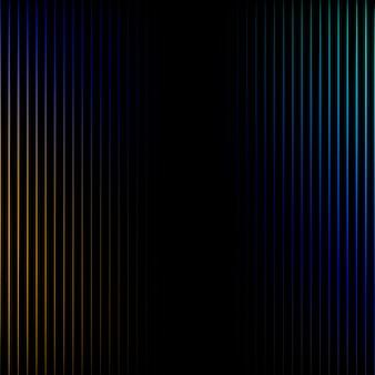 Líneas vibrantes en vector de fondo negro