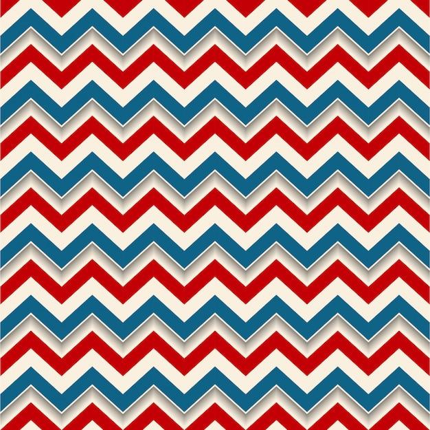 Líneas de zigzag de fondo retro