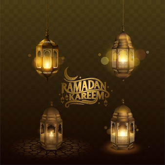 Linterna árabe ramadán kareem