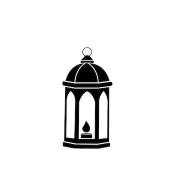 Linterna árabe. el símbolo del ramadán. icono de vector.