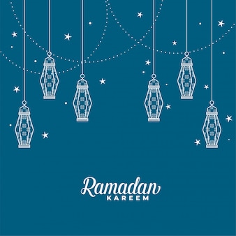 Linterna islámica colgante fondo ramadan kareem decorativo