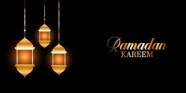 Linternas colgantes fondo de ramadán