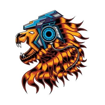 Lion head robot - ilustración