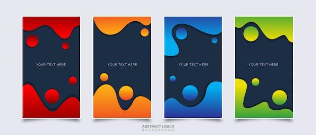 Líquido abstracto colorido y fondo fluido en estilo 3d