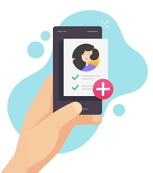 Lista de control de salud de documentos médicos en línea en el teléfono móvil