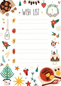 Lista de deseos de año nuevo
