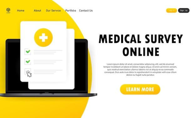 Lista de formularios médicos con datos de resultados y banner de marca de verificación aprobado