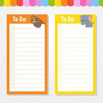 Lista de tareas para niños.