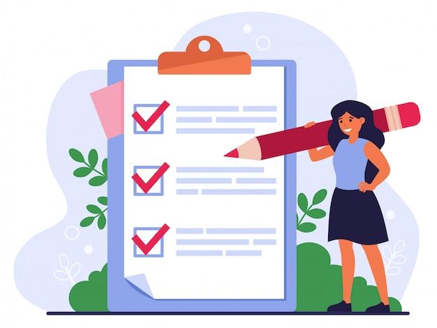 Lista de verificación o concepto de encuesta