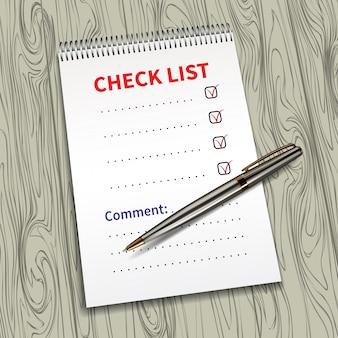 Lista de verificación de plantilla