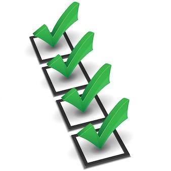 Lista de verificación de vectores verde