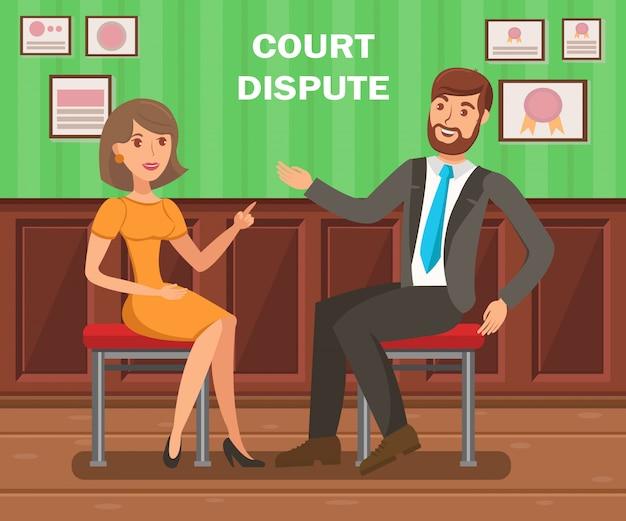 Litigios en la corte de abogados