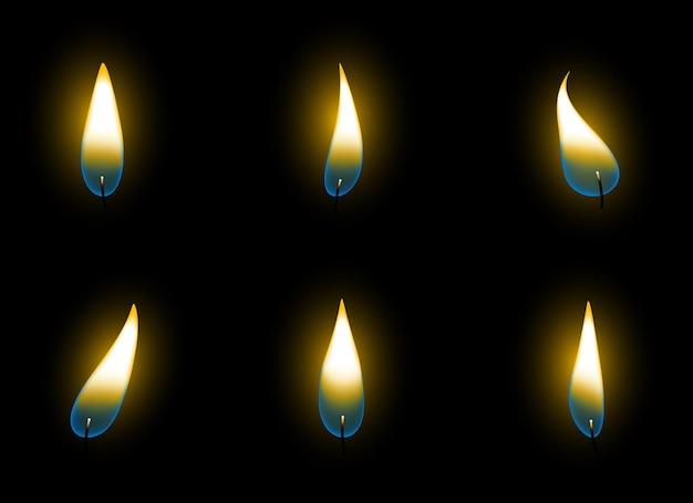 Llama de vela aislada