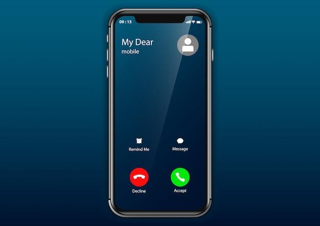 Llamada entrante móvil