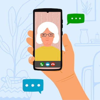 Llamada telefónica de la abuela