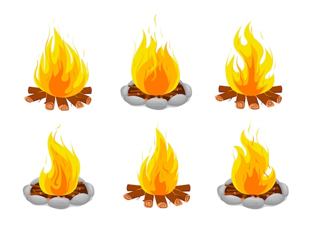Llamas de fuego. hoguera