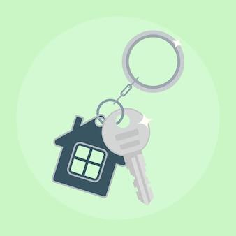 Llave de hierro de la casa. compra de vivienda, alquiler de propiedad