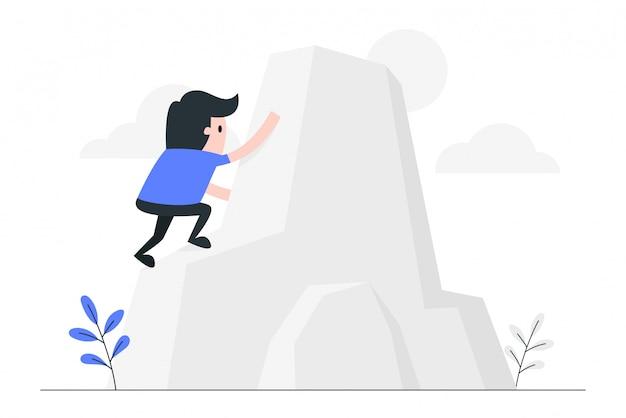 Llegar a la ilustración del concepto de meta.