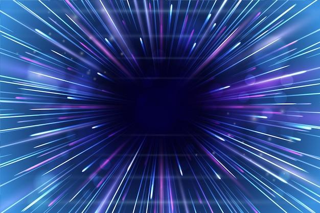 Lluvia de fondo de luces de velocidad