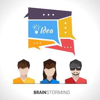 Lluvia de ideas concepto ilustración