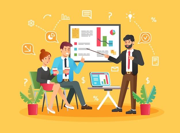 Lluvia de ideas de personas de discusión de ideas de equipo creativo