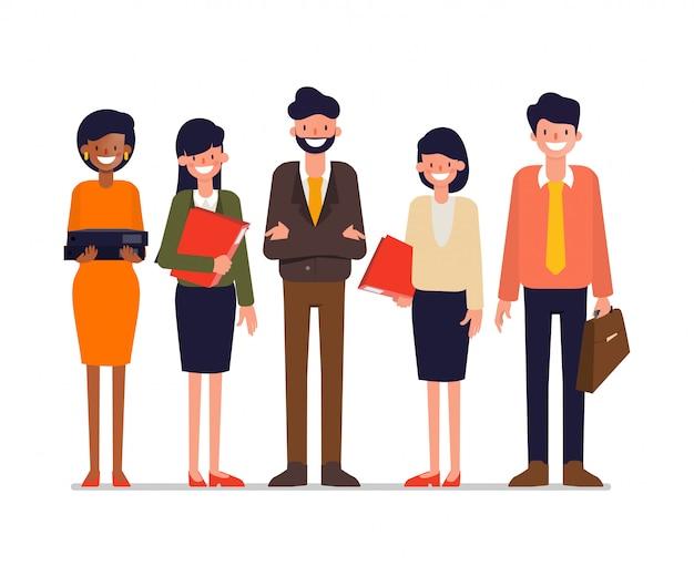 Lluvia de ideas de personas de trabajo en equipo corporativo.