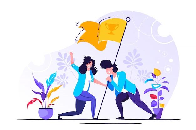 Lluvia de ideas simbólica y estrategia de éxito de la empresa