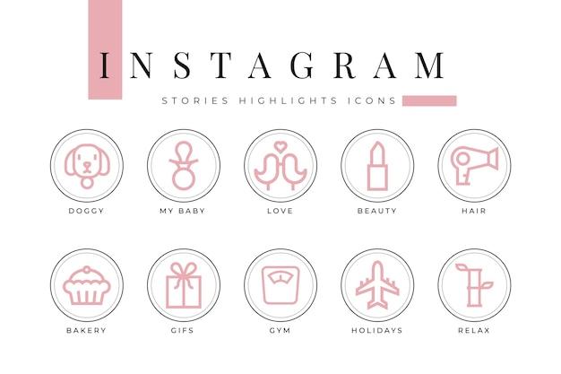 Lo más destacado de las historias de íconos de instagram