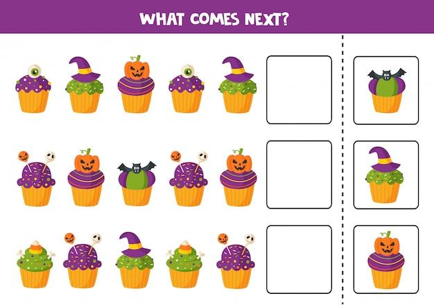 Lo que sigue con los cupcakes de halloween de dibujos animados.