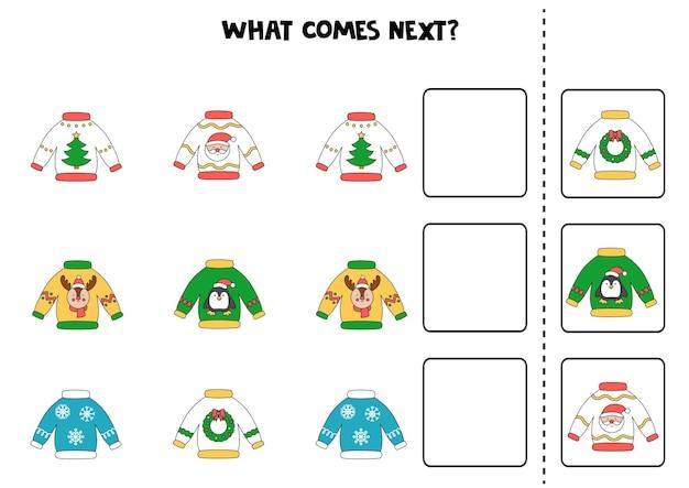 Lo que viene a continuación juego con feos suéteres navideños.