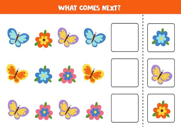 Lo que viene después con lindas flores y mariposas.