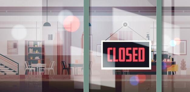Lo siento, estamos cerrados cartel colgando fuera de la oficina de negocios tienda tienda o restaurante