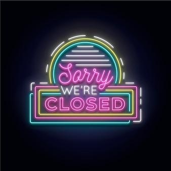 'lo siento, estamos cerrados' cartel en la pared de ladrillo