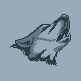 Lobo aullando solitario