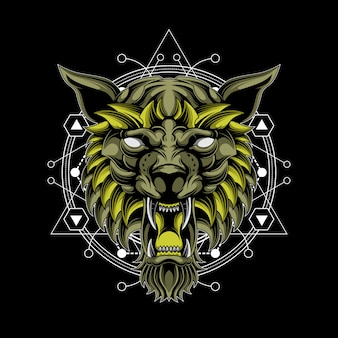 Lobo dios geometría sagrada