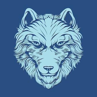 Lobo peludo para la decoración
