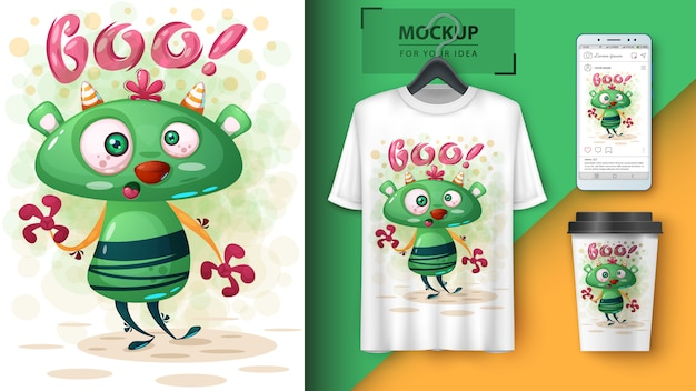 Loco monsterposter y merchandising