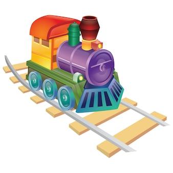Locomotora colorida