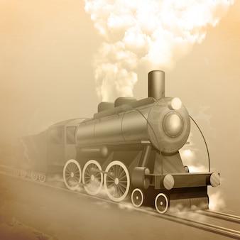 Locomotora de estilo antiguo.