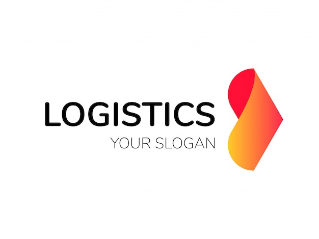 Logística logo flecha entrega urgente