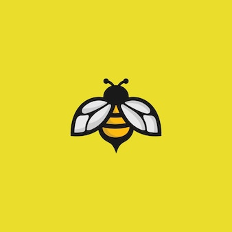 Logo de abeja en amarillo