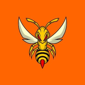 Logo de abeja asesina
