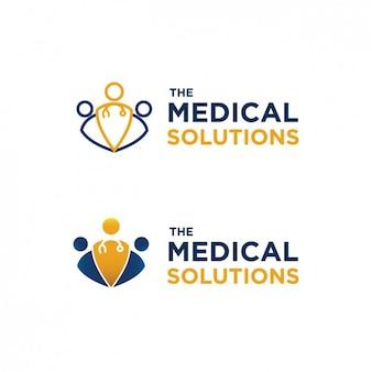 Logo abstracto clínico