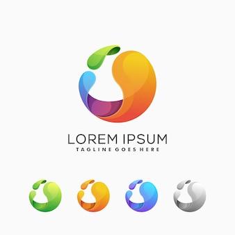 Logo abstracto colorido