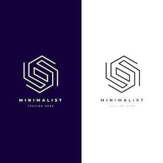 Logo abstracto en concepto de dos versiones