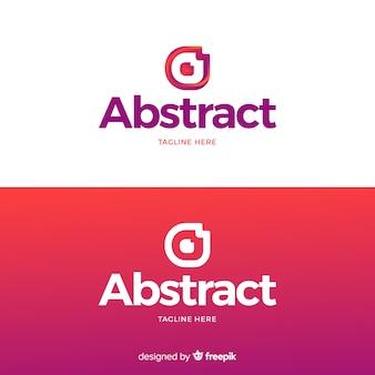 Logo abstracto en estilo degradado