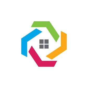 Logo abstracto de inmobiliaria
