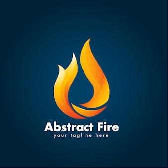 Logo abstracto de la llama