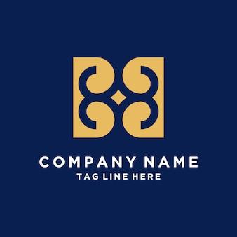 Logo abstracto de lujo de la letra b