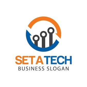 Logo abstracto tecnológico